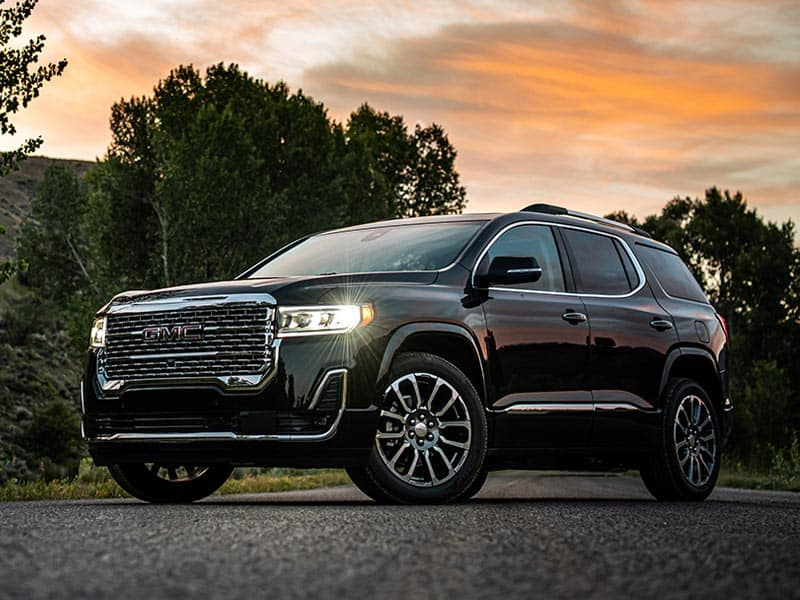 2022 GMC Acadia models and trim levels