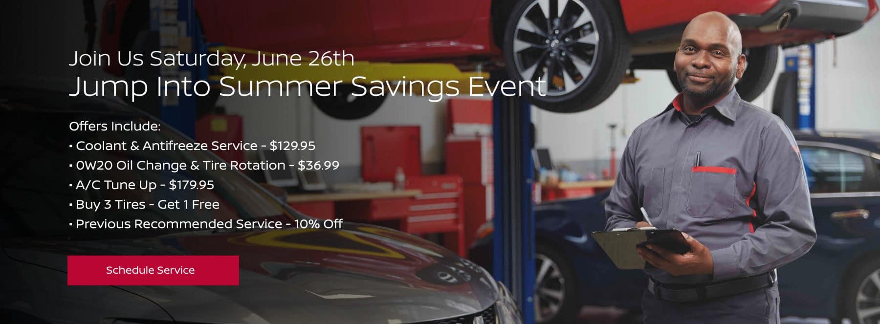 Jump Into Summer Savings Event