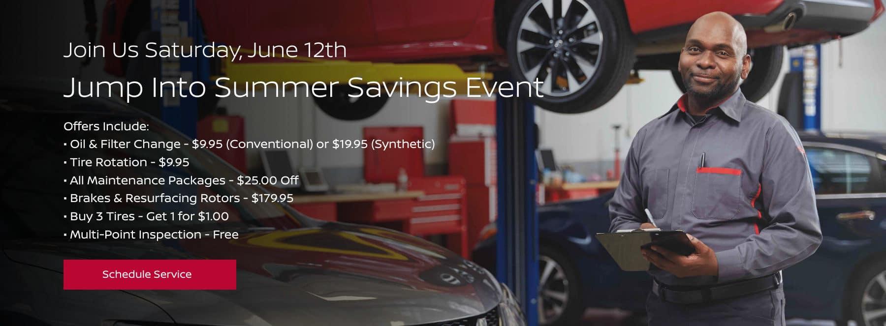 Summer Savings Event - June 12th