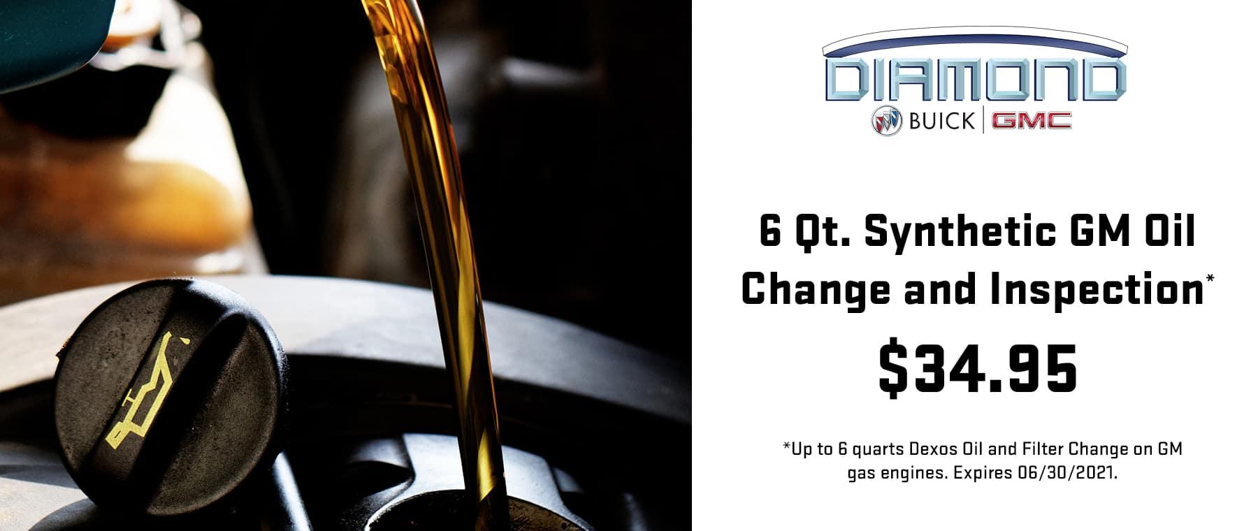 6 Quart Synthetic Oil Change