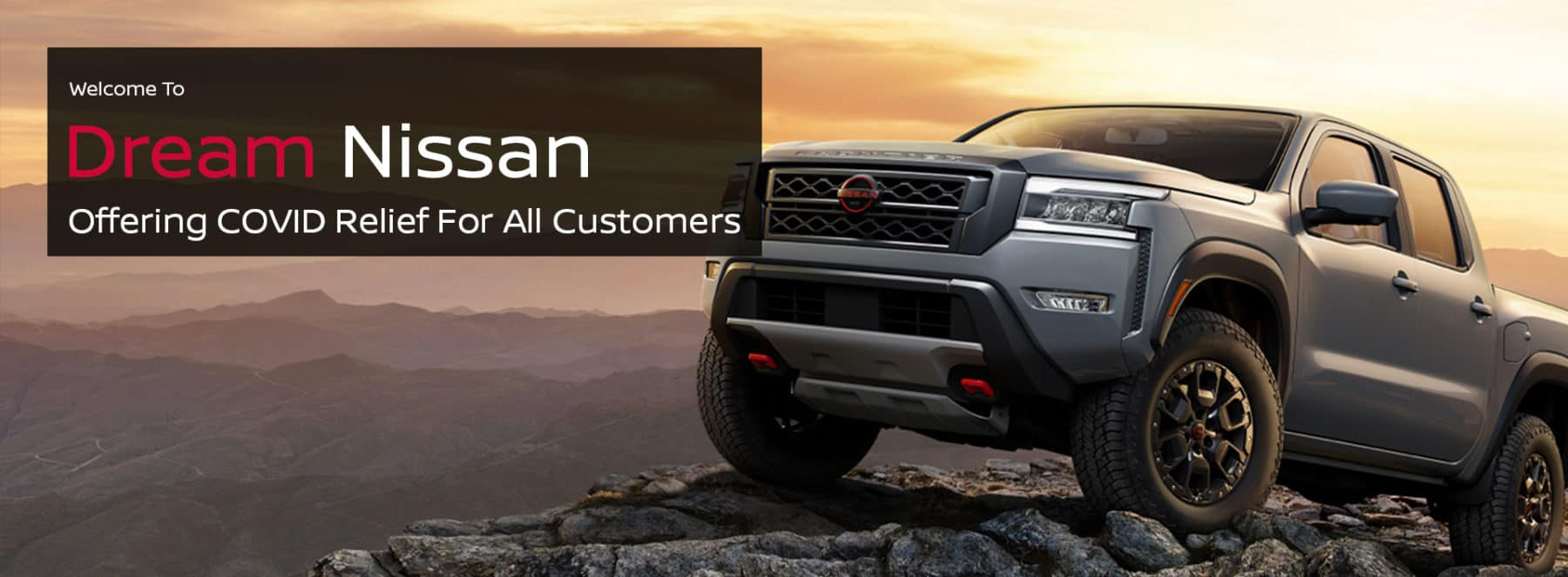Dream Nissan Welcome Banner