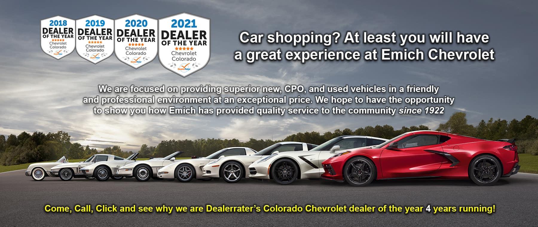 Colorado Chevrolet Dealer of the Year 2021!