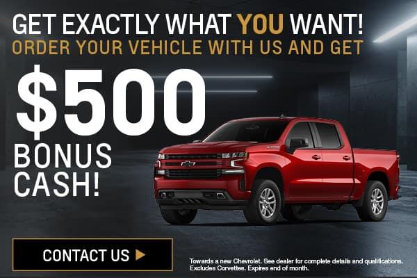 $500 Bonus Cash