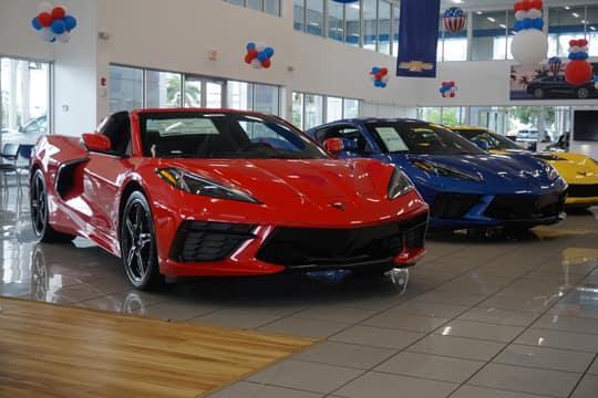 red corvette front