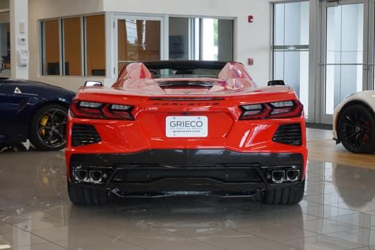 red corvette rear