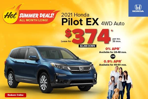New 2021 Honda Pilot EX AWD