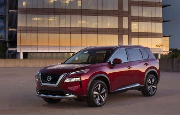 2021 Nissan Rogue in Red