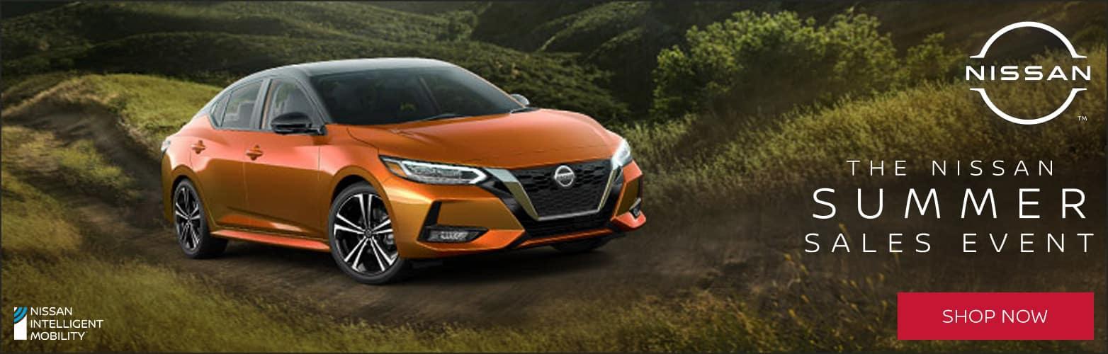 Nissan Summer Sales Event Web Slide with Nissan Altima