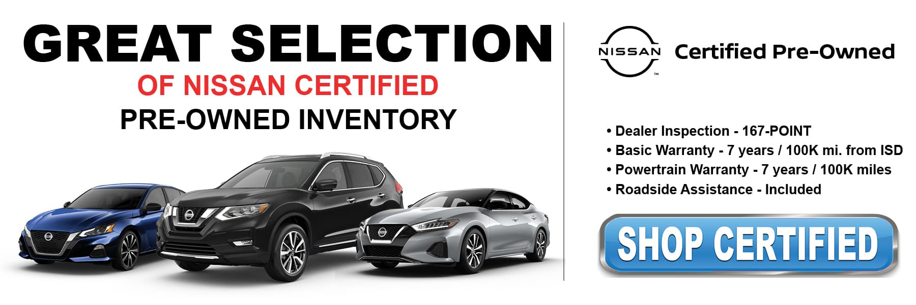 Shop Certified Pre-Owned Inventory at Kelly Nissan of Lynnfield