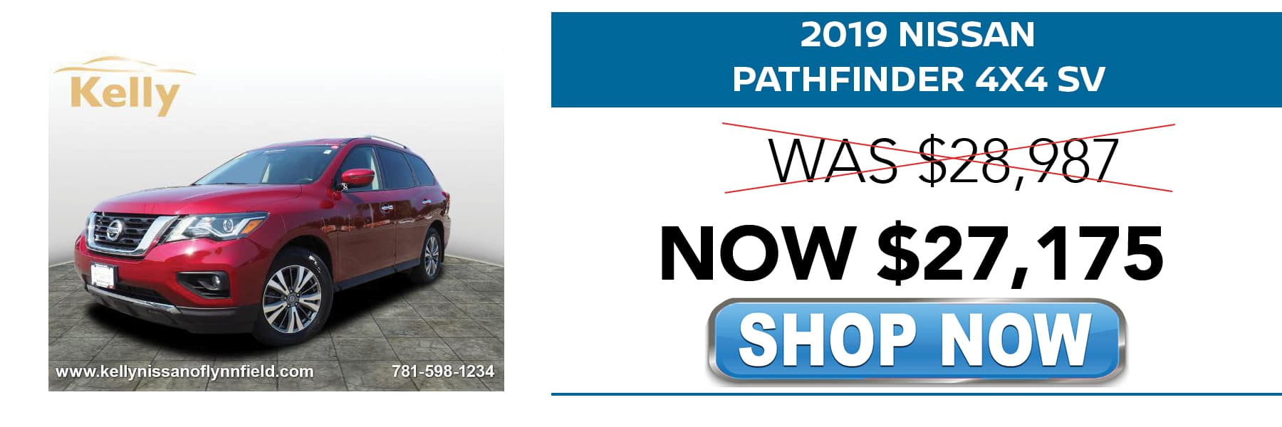 Certified Pre-Owned 2019 Nissan Pathfinder SV Now $27,175