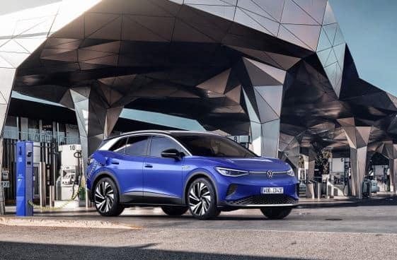 New Volkswagen ID.4 Electric SUV at Charging Station