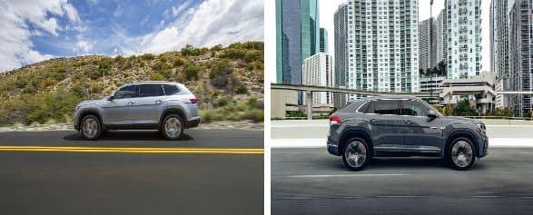 2021 VW Atlas and 2021 VW Atlas Cross Sport