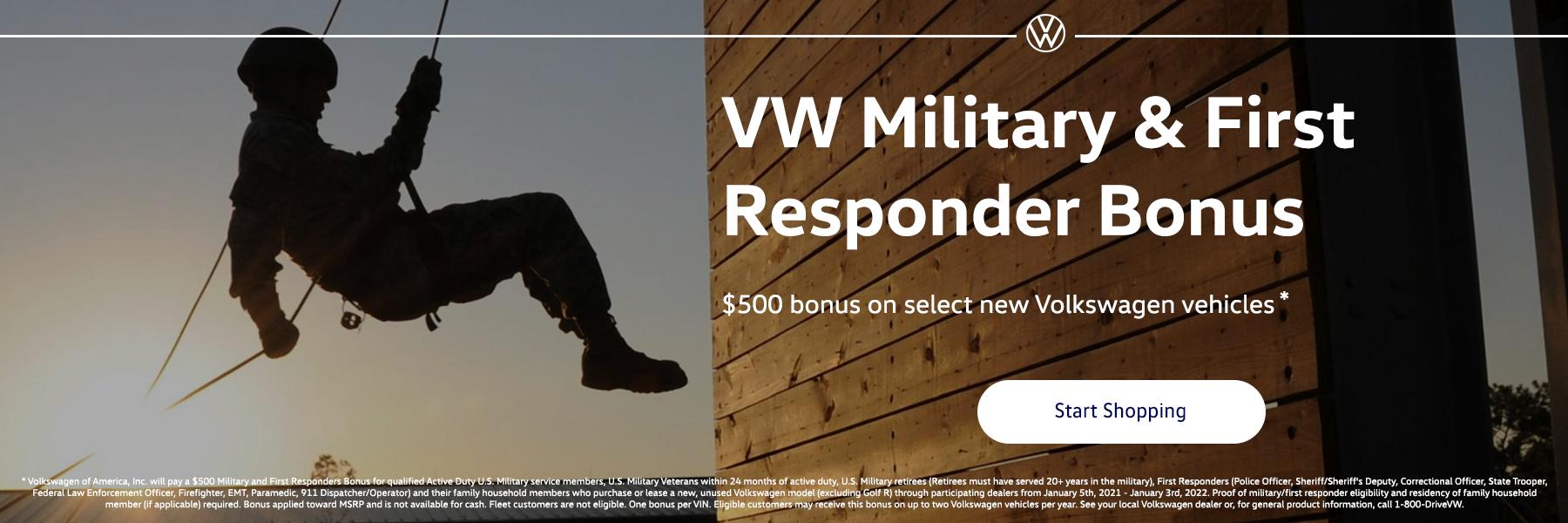 Volkswagen Military and First Responder Bonus