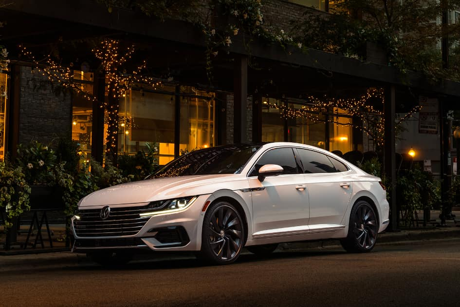 2021 Volkswagen Arteon in White Outside at Nighttime