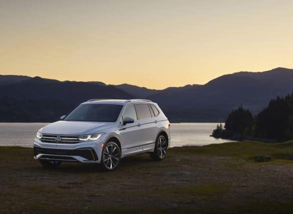 2022 Volkswagen Tiguan with Lake in Background