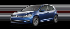 2021 Volkswagen Golf Hatchback Blue Exterior