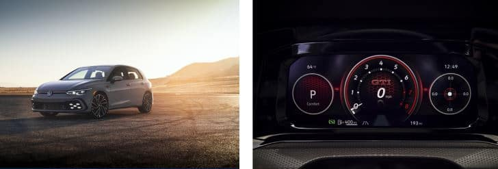 Exterior and Interior of 2022 VW Golf GTI