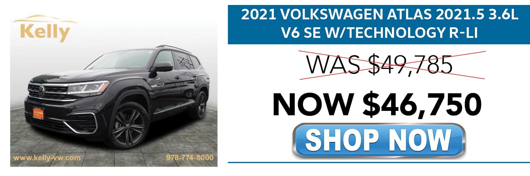 Certified Pre-Owned 2021 Volkswagen Atlas SE Now $46,750