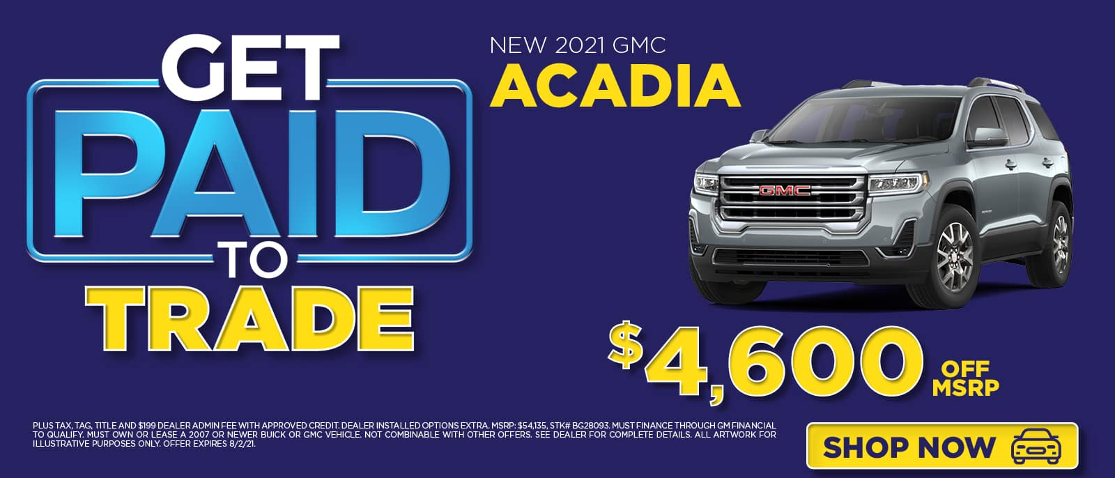 Get Paid to Trade - Acadia