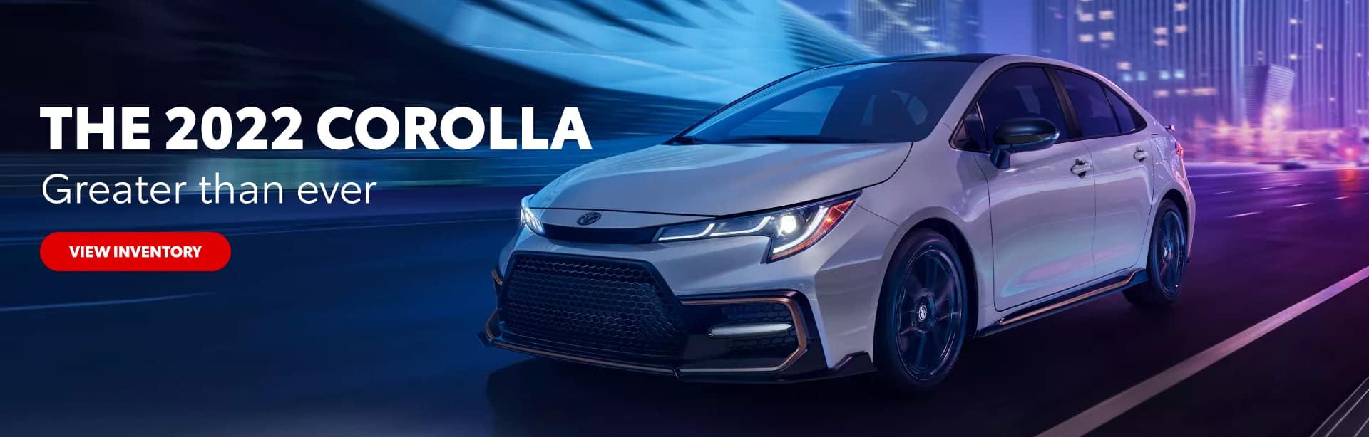 The 2022 Corolla