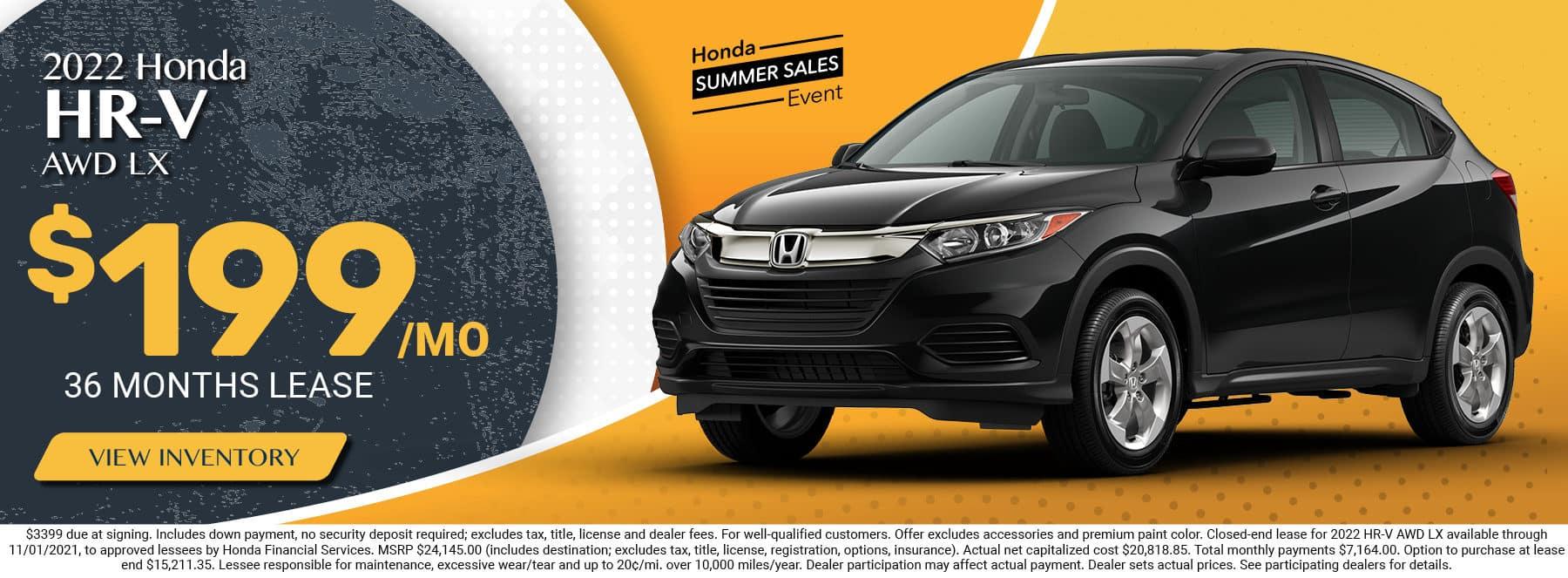 2022 Honda HR-V, AWD LX