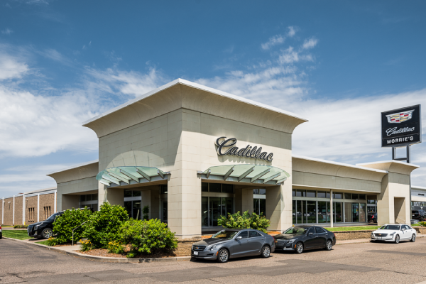 Exterior of Morrie's Golden Valley Cadillac Dealership.>       </div>     </div>   </div>   </div>            </div>         </div>                </div> </div> <style type=