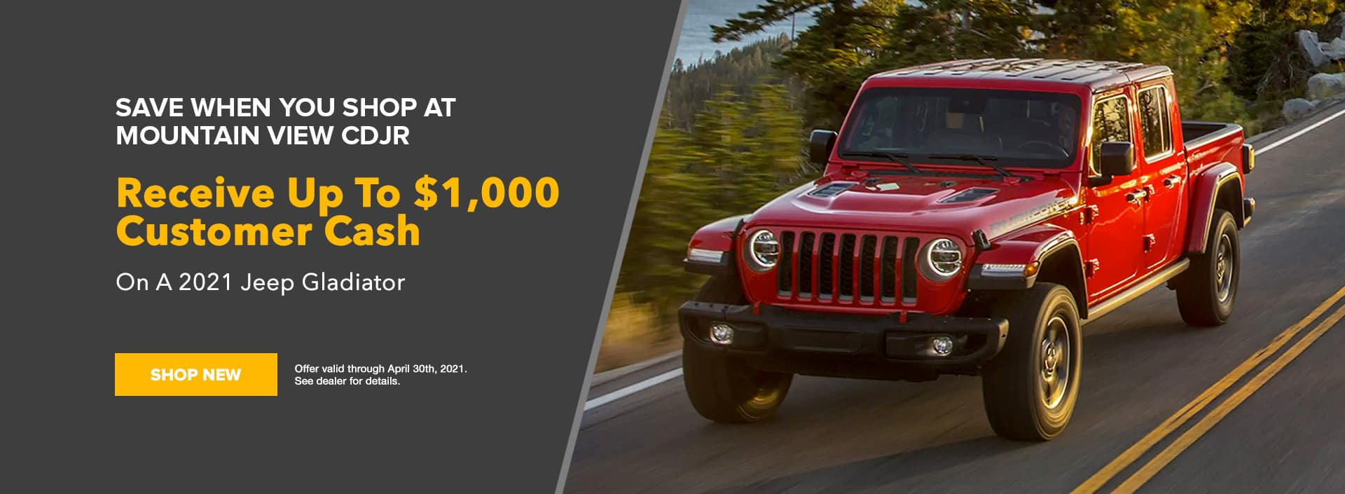 Jeep Gladiator Offer