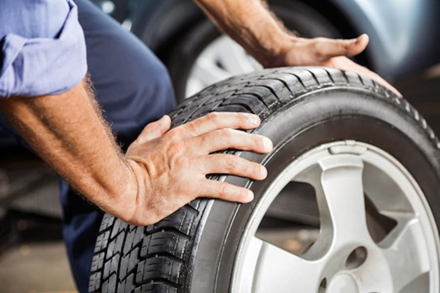 Service Tech with Tires