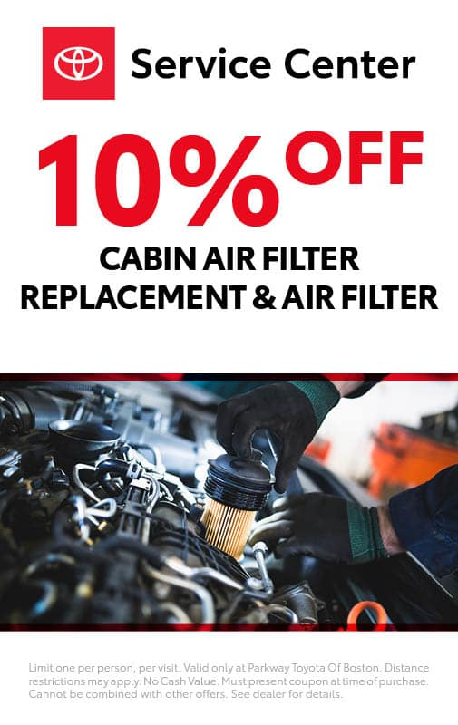 10% Off Cabin Air Filter Replacement & Air Filter