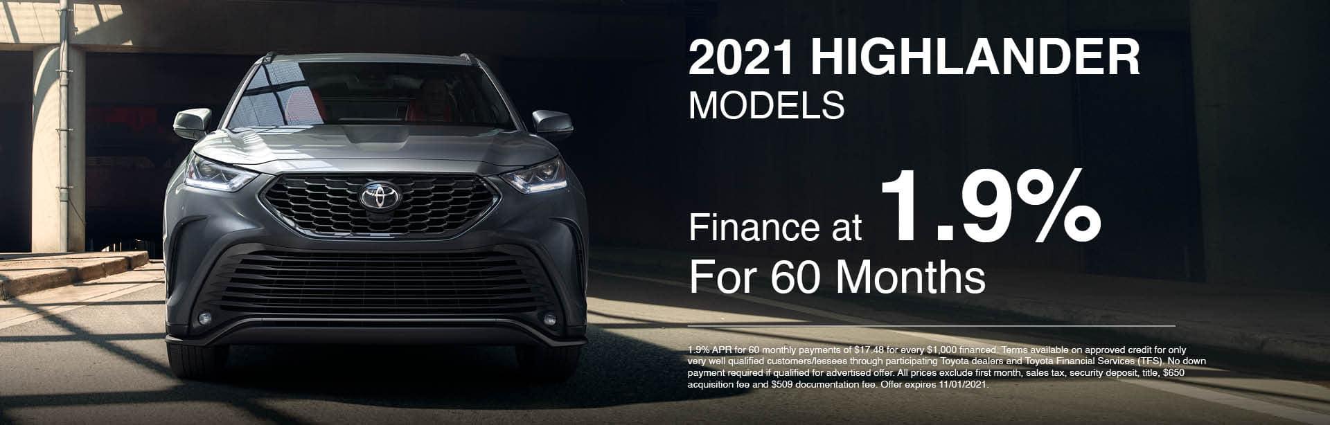 2021 Highlander Models