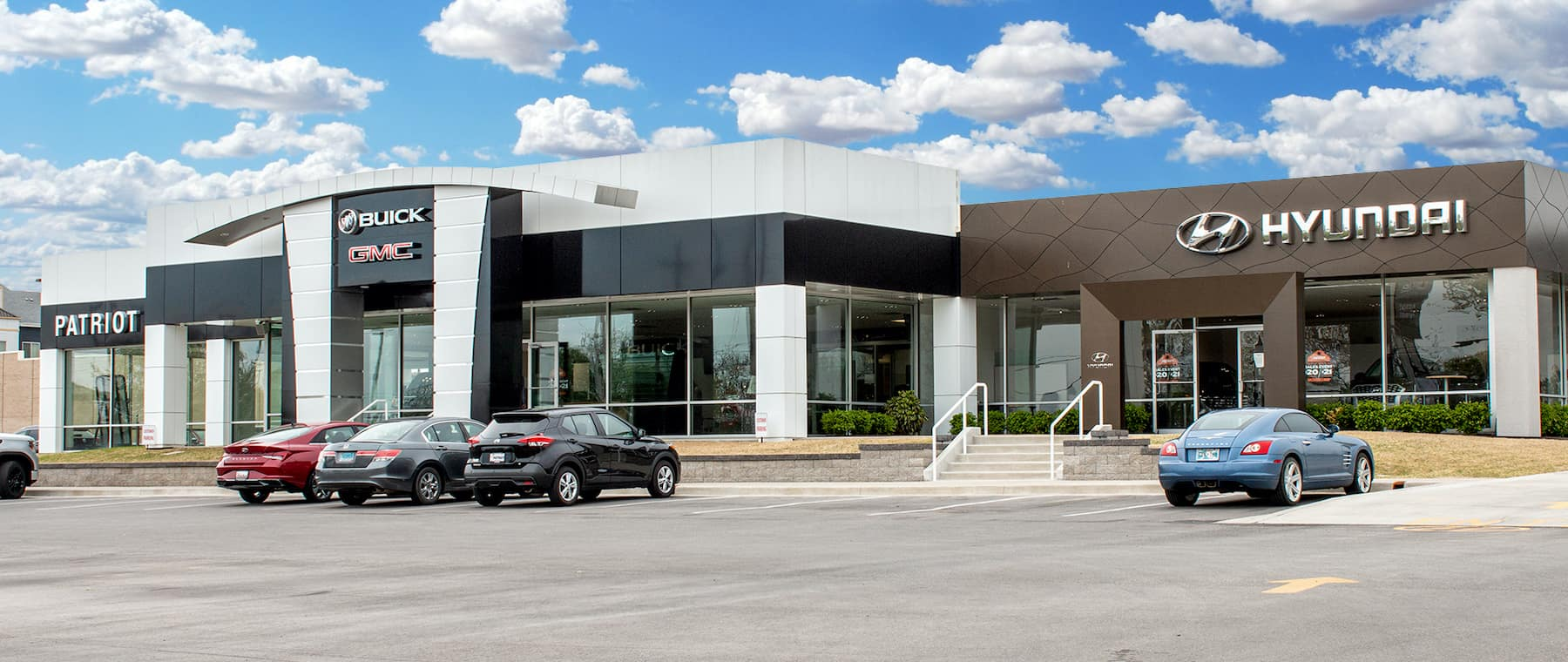 Front view of dealership