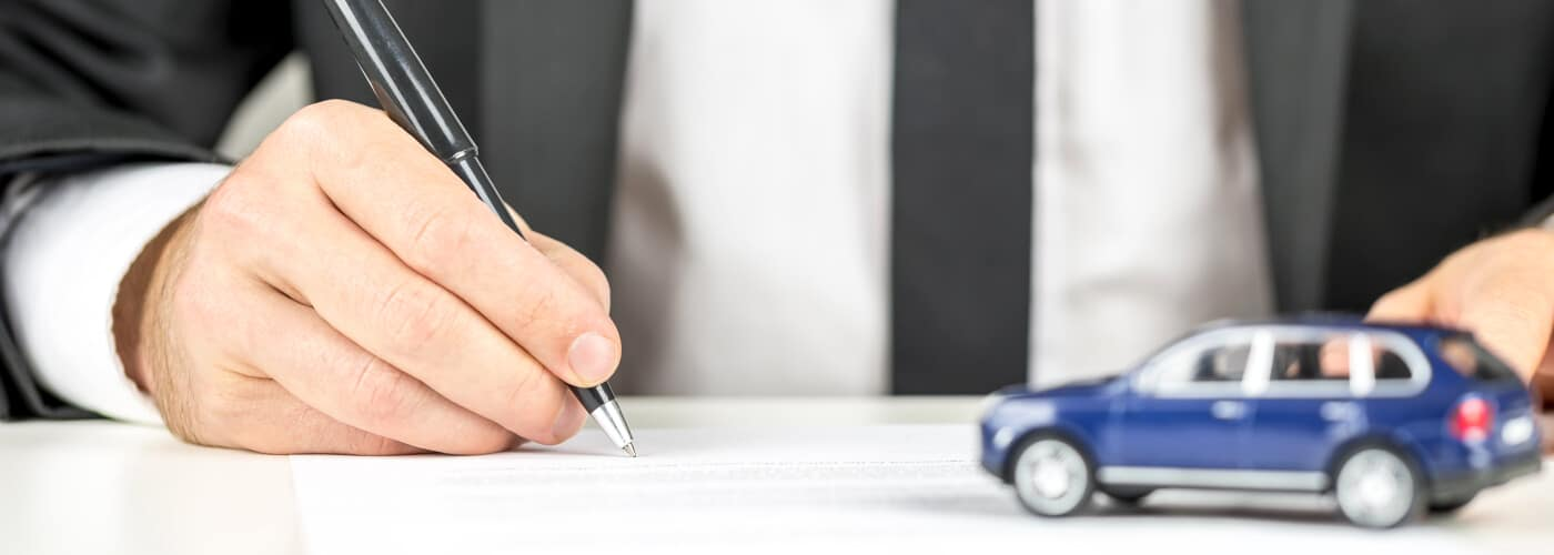 Signing Documents for Car