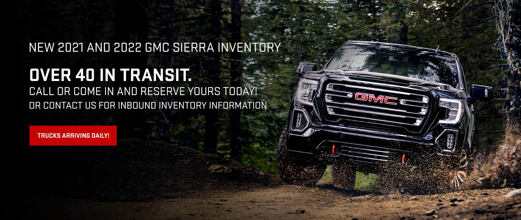 New 2021 and 2022 GMC Sierra Inventory