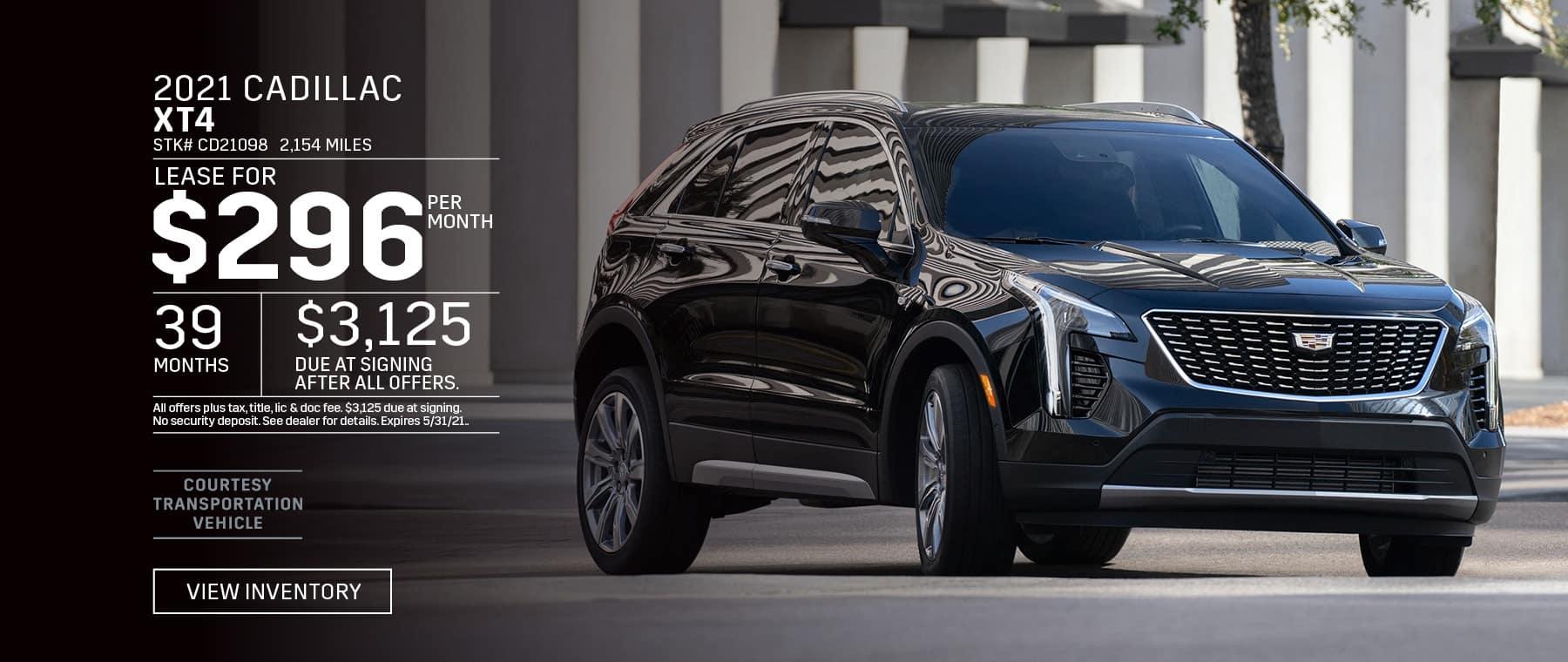 2021 Cadillac XT4 Lease