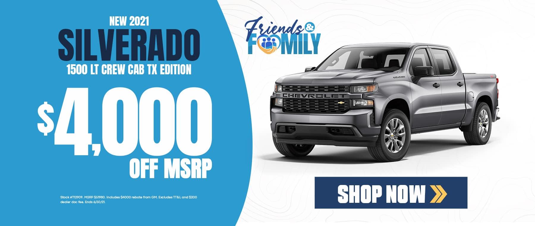 $4,000 off MSRP for Silverado - Monroe, LA