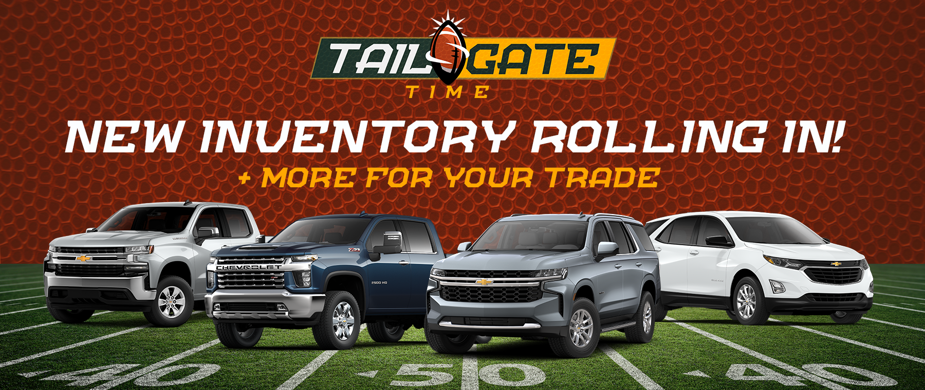 Tailgate Time - New Inventory at Ryan Chevy in Monroe, LA