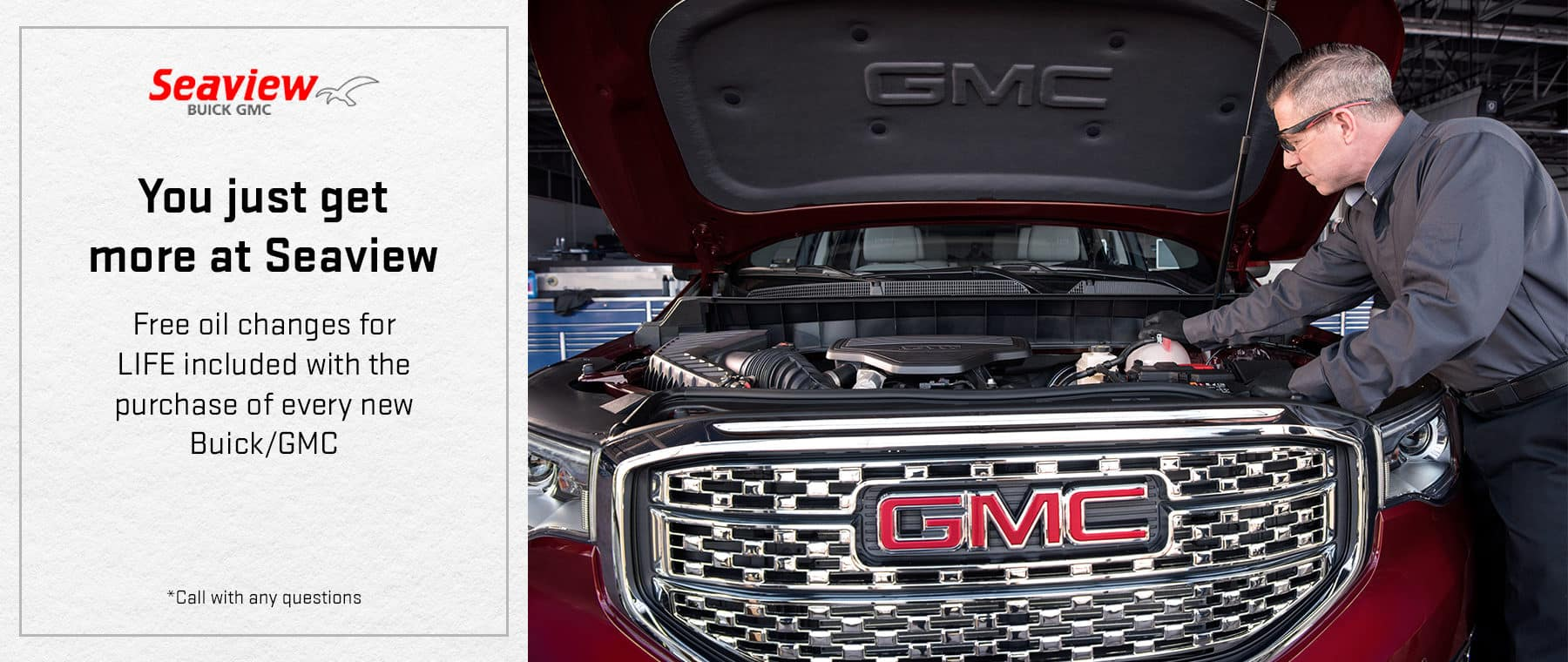 Free oil changes for LIFE included with the purchase of every new Buick/GMC