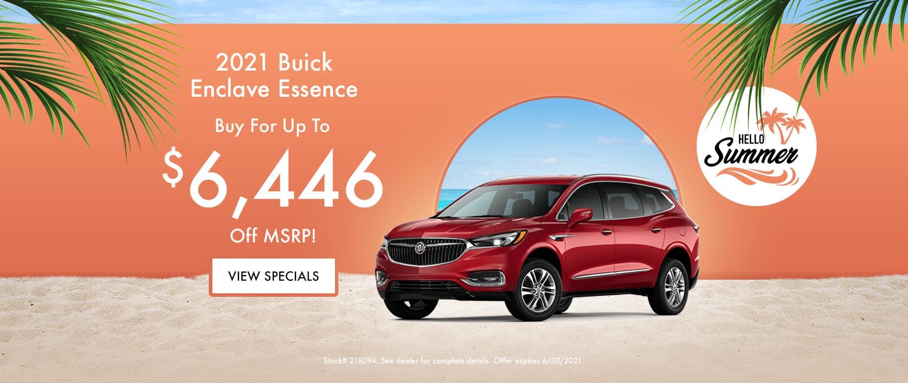 2021 Buick Enclave Essence June Special