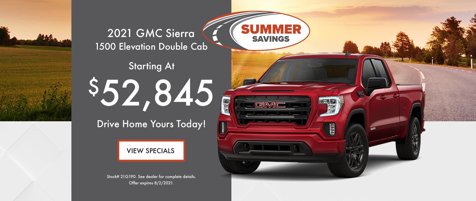 2021 GMC Sierra 1500 July Special