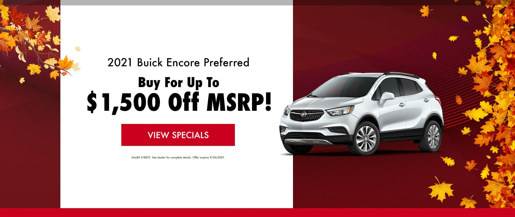 2021 Buick Encore September Special