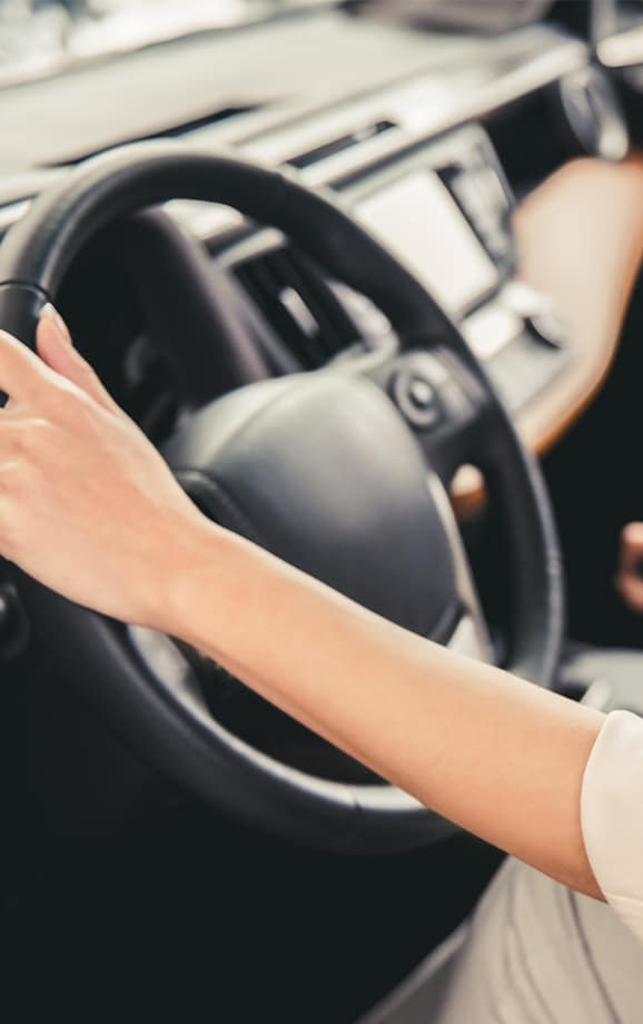 Trading in/selling your vehicle with South Hills Toyota in Canonsburg   Steering Wheel Close Up