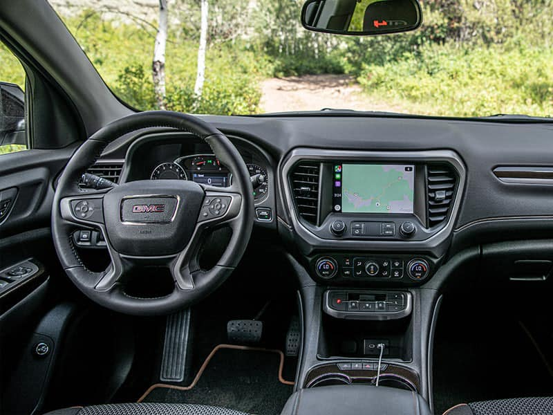 The New 2021 GMC Acadia interior and features