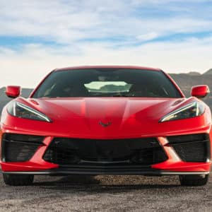 2022 Chevrolet Corvette Coupe with Torch Red exterior