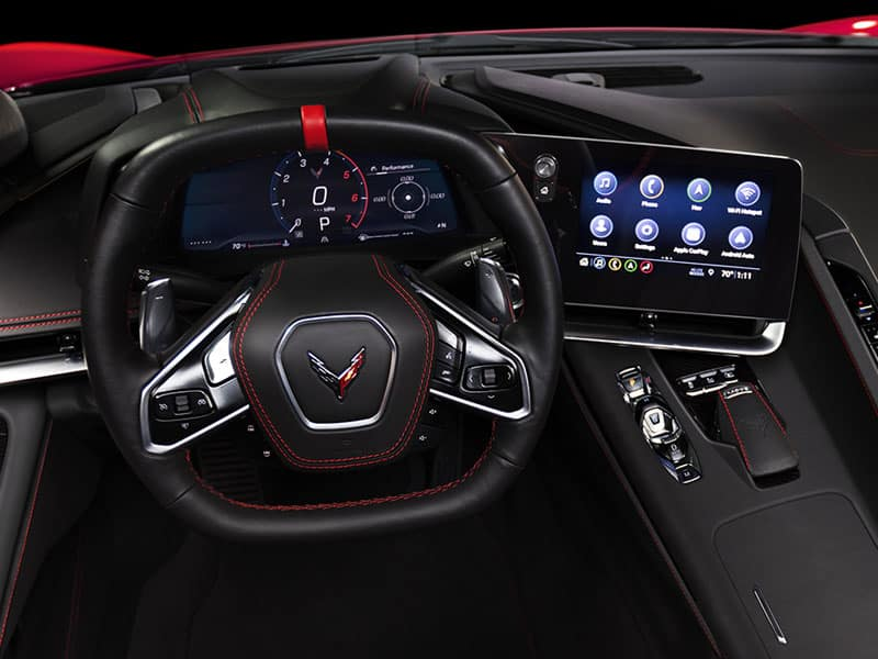 2022 Chevrolet Corvette interior and driver technology