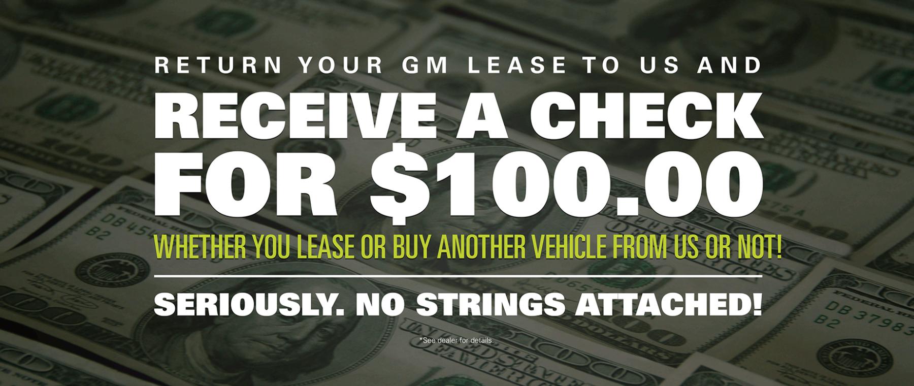 100 lease return offer