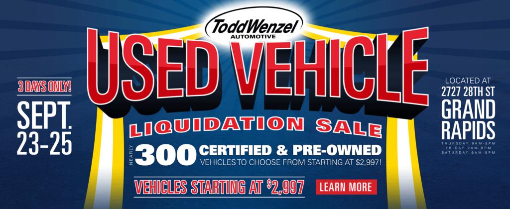 Used Vehicle Liquidation