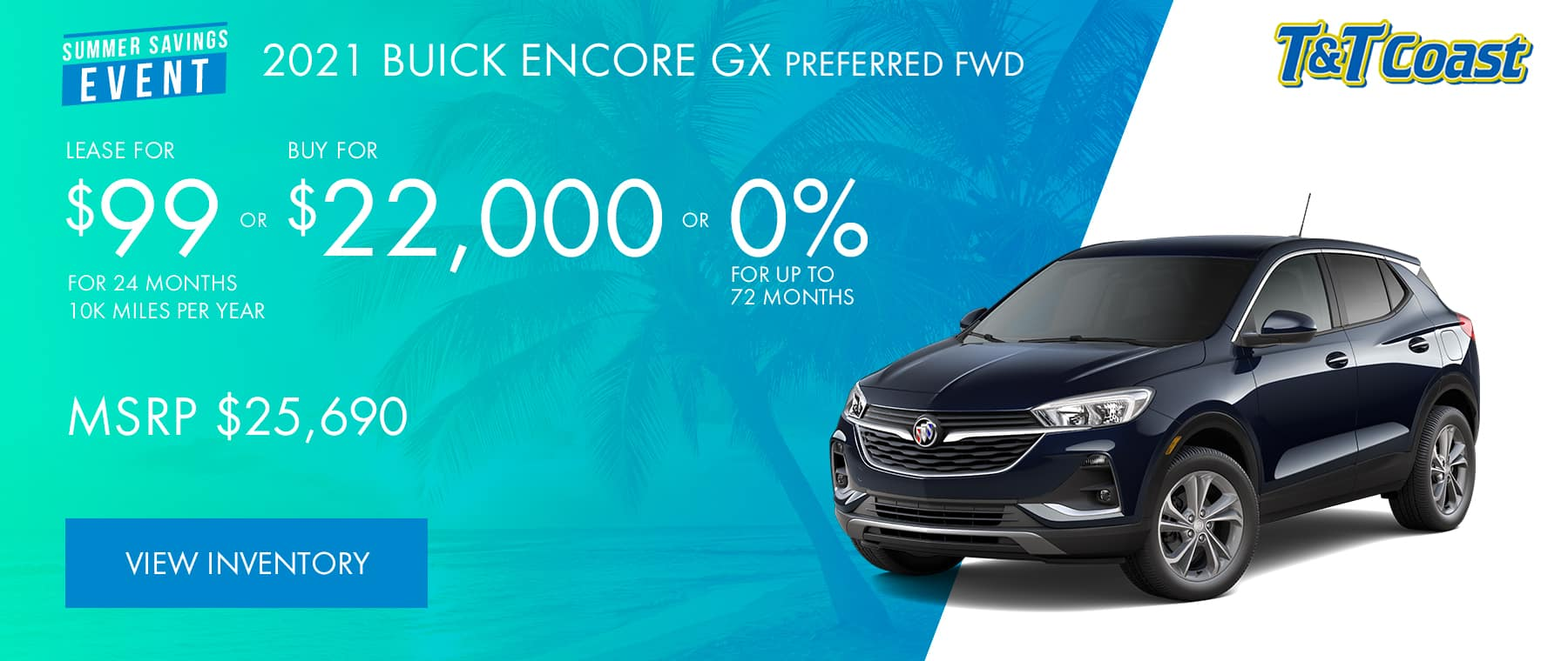 2021 BUICK ENCORE GX PREFERRED FWD Subtitle: MSRP $25,690 $99/MONTH LEASE!* For 24 Months /10K Miles/Year OR BUY FOR $22,000 OR 0% FOR UP TO 72 months