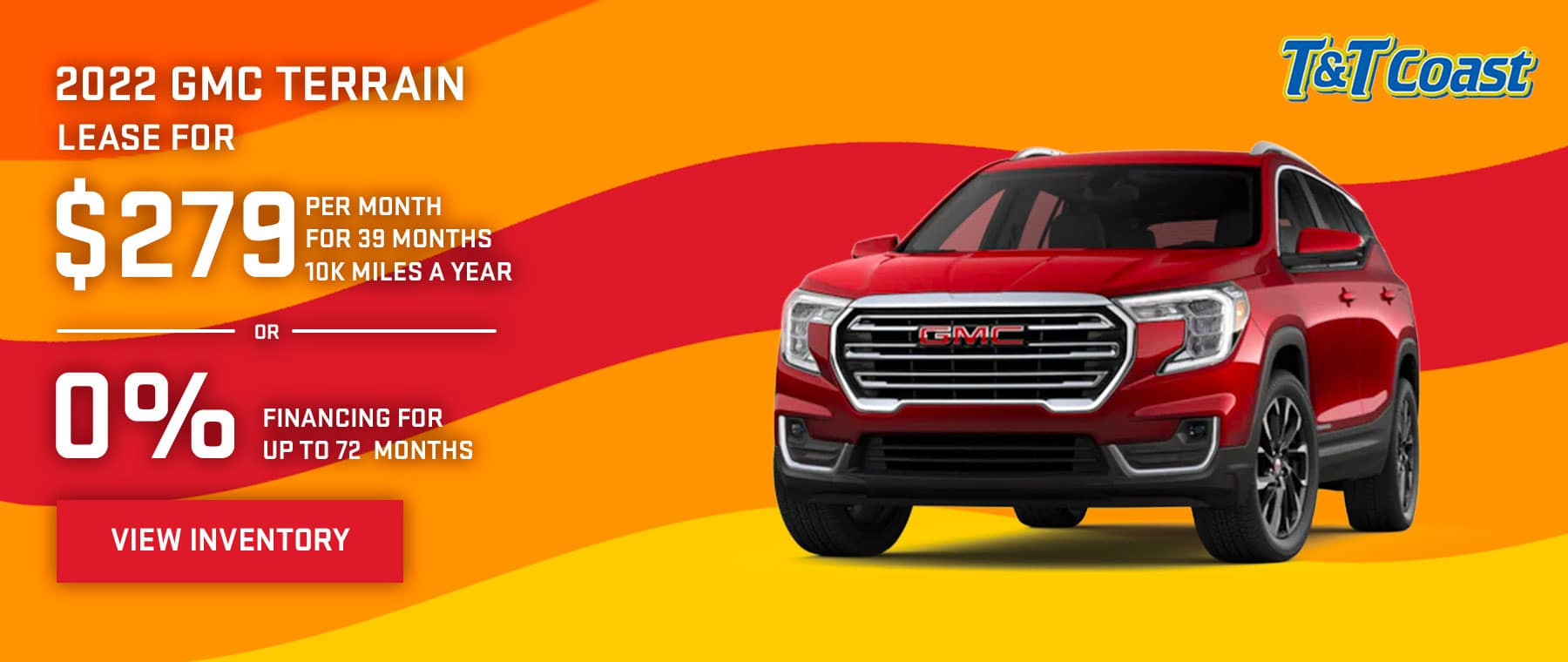 2022 GMC TERRAIN $279 a month for 39 months OR 0% financing for up to 72 months