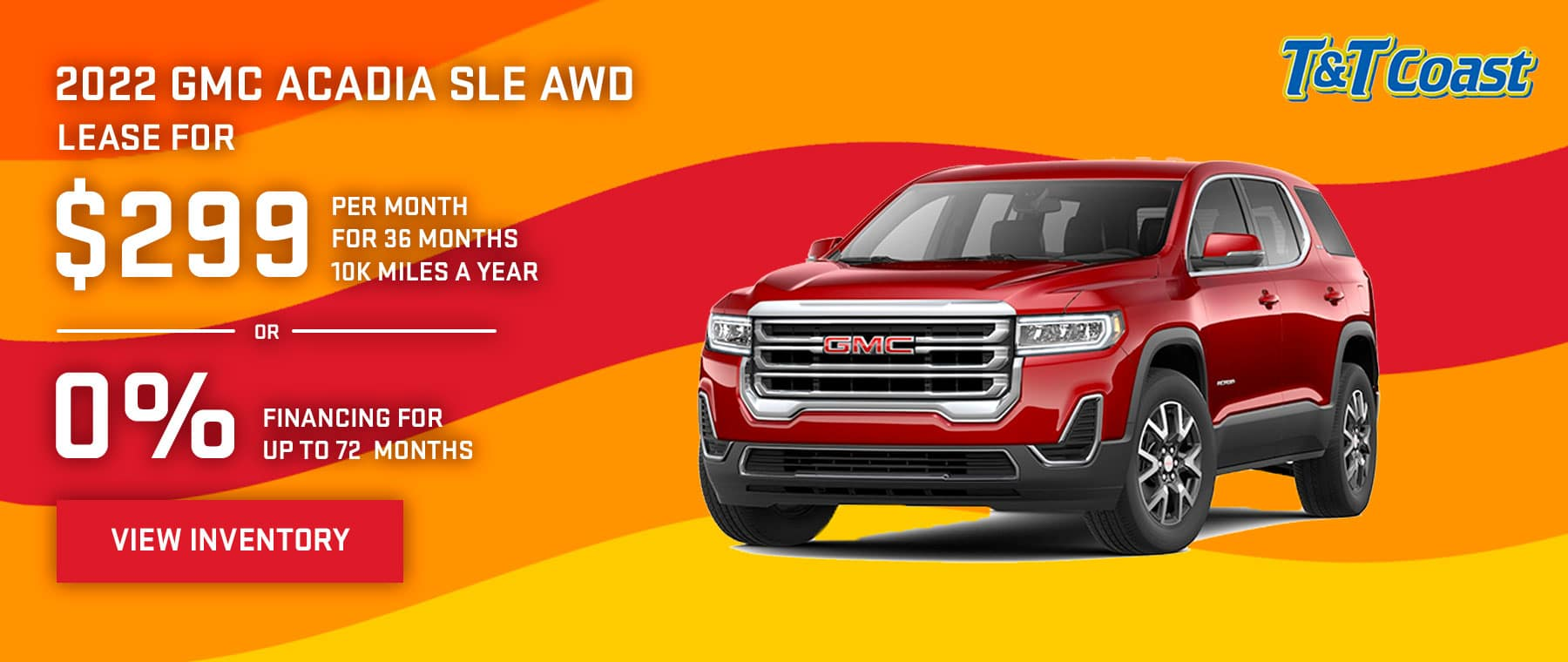 2022 GMC ACADIA SLE AWD $299 a month for 36 months OR 0% financing for up to 72 months
