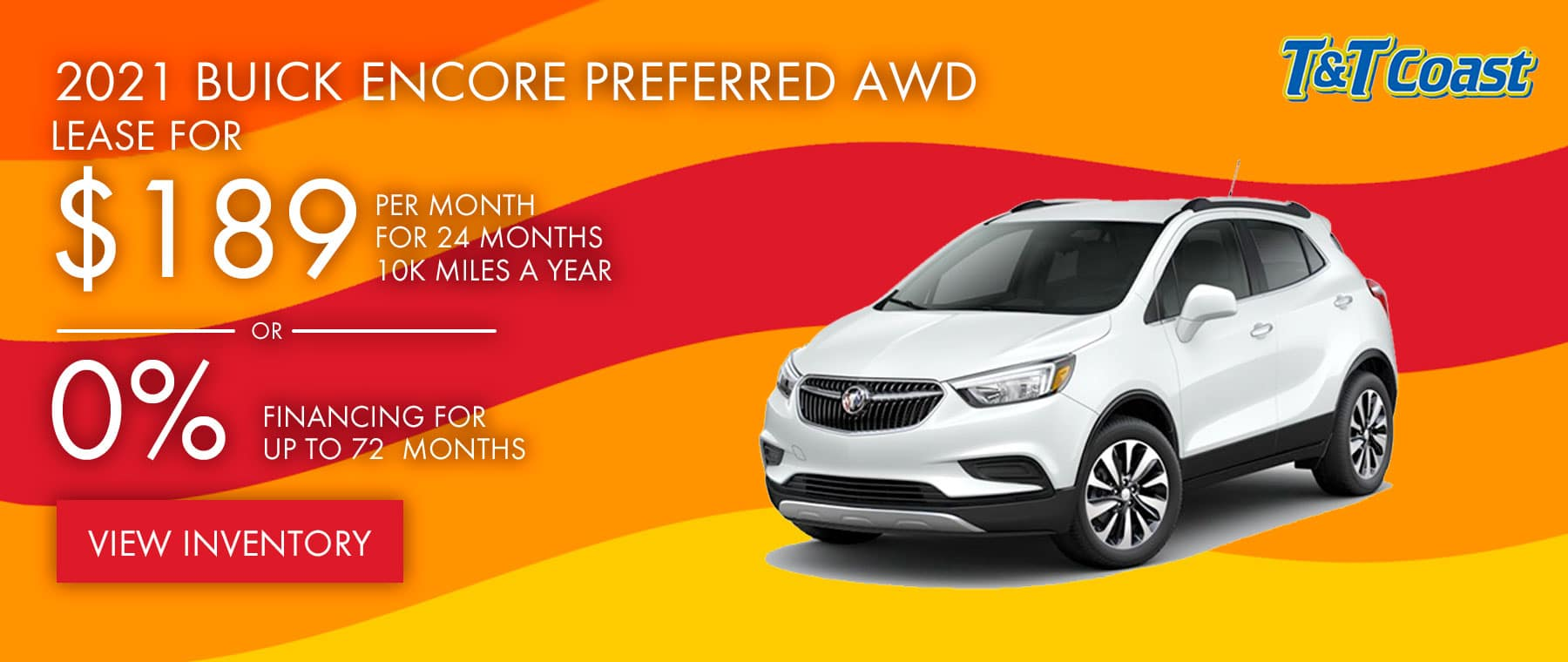 2021 BUICK ENCORE PREFERRED AWD $189 a month for 24 months OR 0% financing for up to 72 months